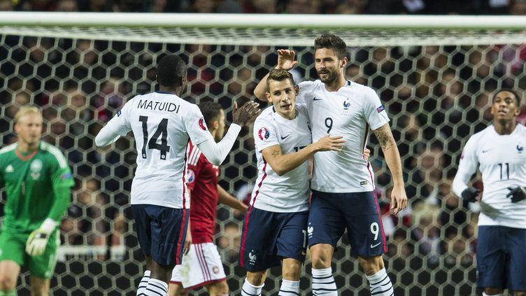 Olivier Giroud a inscrit un doublé (ODD ANDERSEN / AFP)
