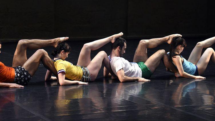 """Répétition d'""""Empty moves"""" d'Angelin Preljocaj à Montpellier (18 juin 2014)  (Pascal Guyot / AFP)"""