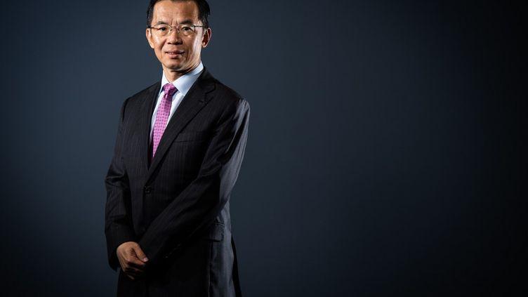L'ambassadeur de Chine en France Lu Shaye à Paris, le 10 septembre 2019. (MARTIN BUREAU / AFP)