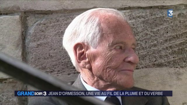 L'écrivain Jean d'Ormesson est mort
