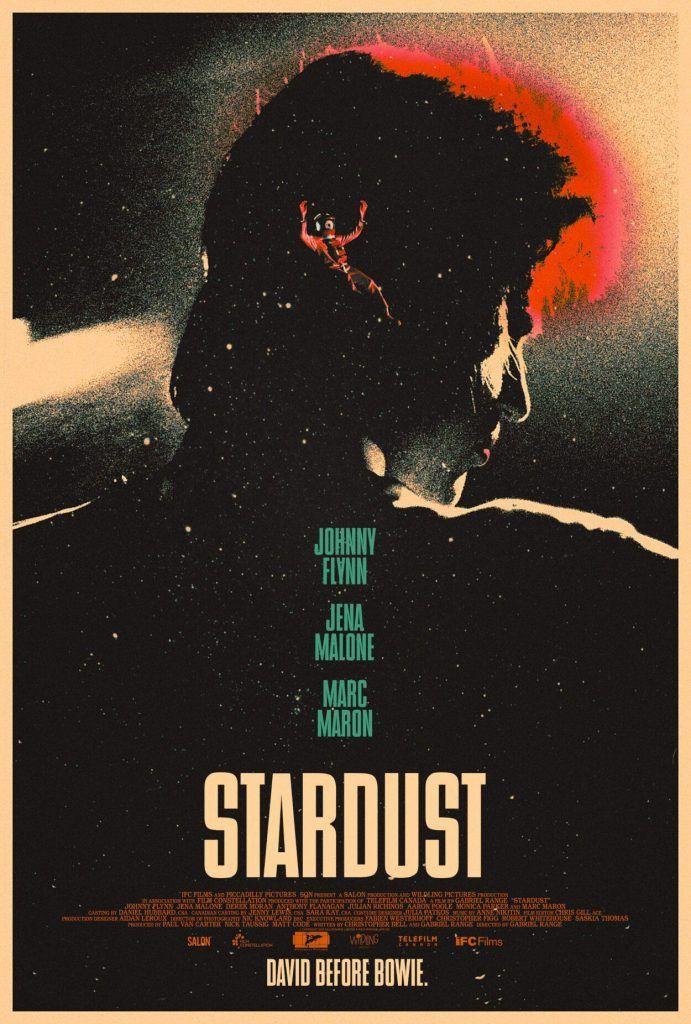"""L'affiche du film """"Stardust"""" sur les débuts de David Bowie, réalisé par Gabriel Range (2020). (STARDUST)"""