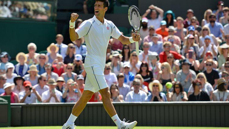 Novak Djokovic heureux sur le gazon londonien (GLYN KIRK / AFP)