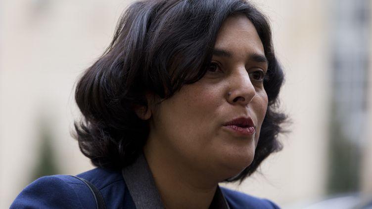 La ministre du Travail Myriam El Khomri à Matignon, le 18 février 2016, à Paris. (KENZO TRIBOUILLARD / AFP)