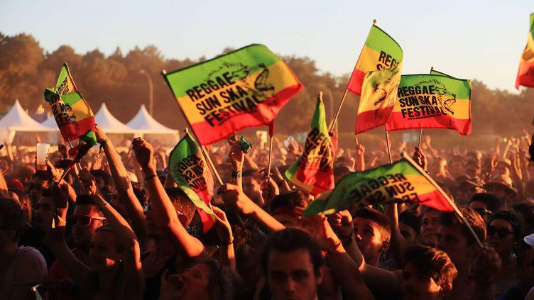 Le public du Reggae Sun Ska festival, lors du concert de Toots and the Maytals, le 4 août 2017. (BONNAUD GUILLAUME / MAXPPP)