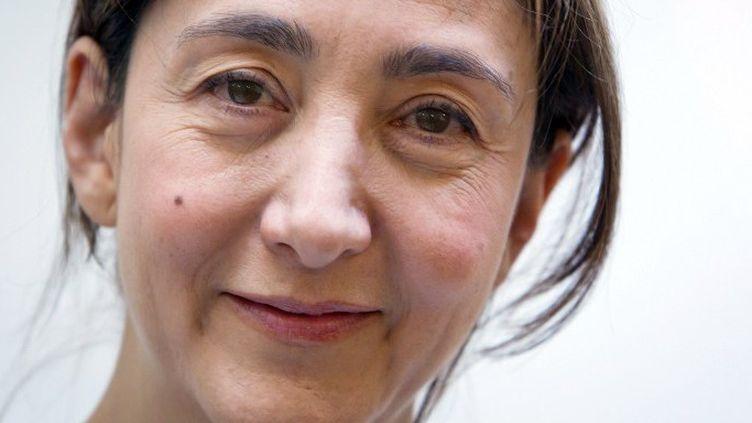 """A 52 ans, Ingrid Betancourt sort son premier roman, """"La ligne bleue""""  (AFP PHOTO LOIC VENANCE)"""