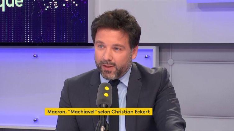 Hugues Renson, député LREM de la 13ecirconscription de Paris, le 24 mai 2018. (FRANCEINFO / RADIOFRANCE)