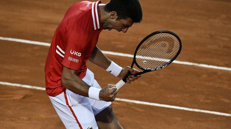 Djokovic s'impose face à Sonego et retrouvera Nadal en finale du Masters 1000 de Rome. (FILIPPO MONTEFORTE / AFP)