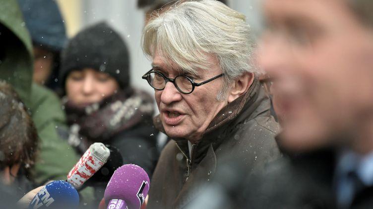 Jean-Claude Mailly, le 9 février 2018, à l'hôtel Matignon, à Paris. (STEPHANE DE SAKUTIN / AFP)