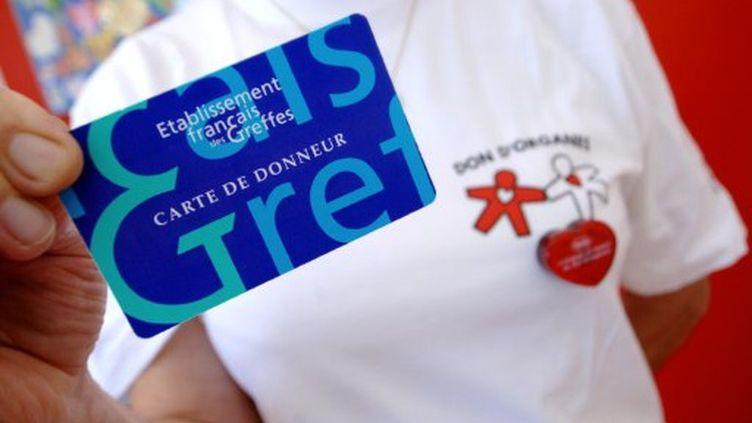 Carte de donneur. Le don d'organes ne répond toujours pas aux besoins. (AFP/MYCHELE DANIAU)