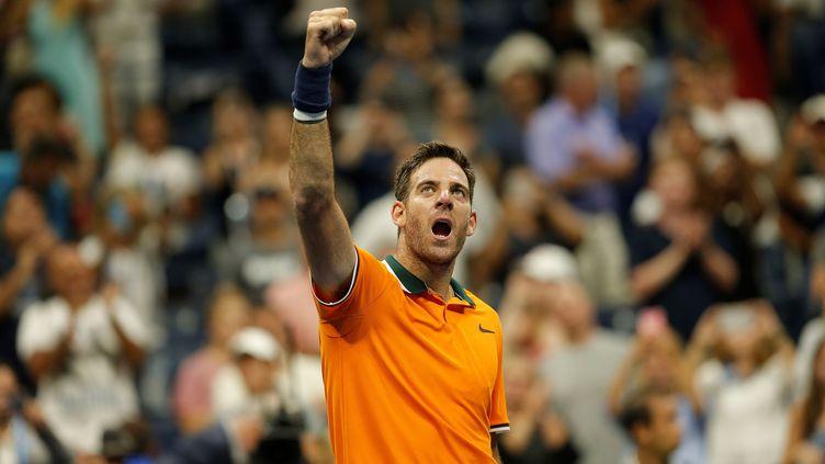 Juan Martin Del Potro, qualifié pour les quarts de finale de l'US Open (MOHAMMED ELSHAMY / ANADOLU AGENCY)