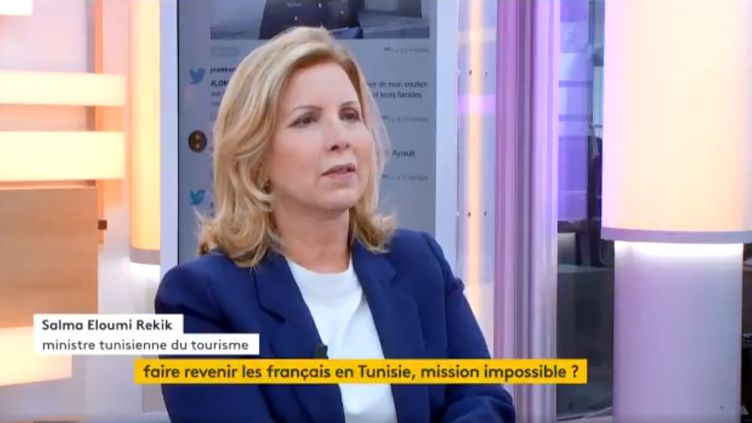 Salma Elloumi Rekik, ministre du tourisme en Tunisie (FRANCEINFO)