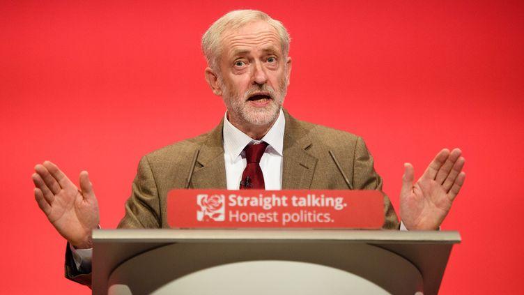 Jeremy Corbyn lors de la conférence annuelle du Labour Party à Brighton le 29 septembre 2015.  (LEON NEAL / AFP)