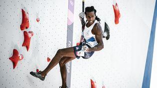 Mickael Mawem vise une médaille pour la première apparition de l'escalade aux JO. (BALLET PAULINE / KMSP / AFP)