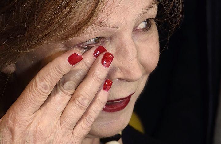 Lydie Salvayre, prix Goncourt 2014, le 5 novembre 2014 à Paris. (ERIC FEFERBERG / AFP)