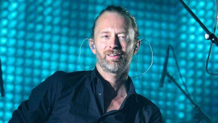 Thom Yorke en concert avec Radiohead, le 13 juin 2012 dans le new Jersey (USA).  (Owen Sweeney / Rex Feat/REX/SIPA)