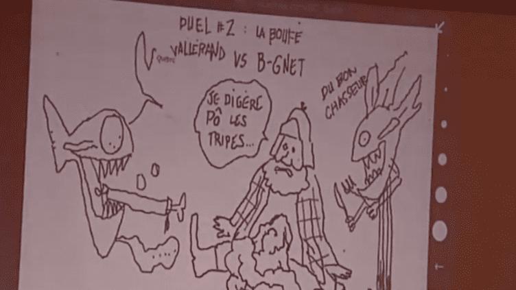 Bataille de dessins entre lyonnais et québecois  (DR)