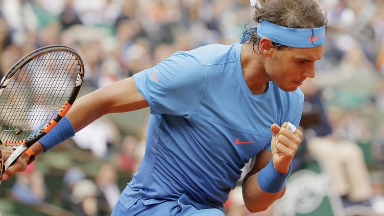 L'Espagnol Rafael Nadal dans son jardin de Roland-Garros (STEPHANE ALLAMAN / ST?PHANE ALLAMAN)