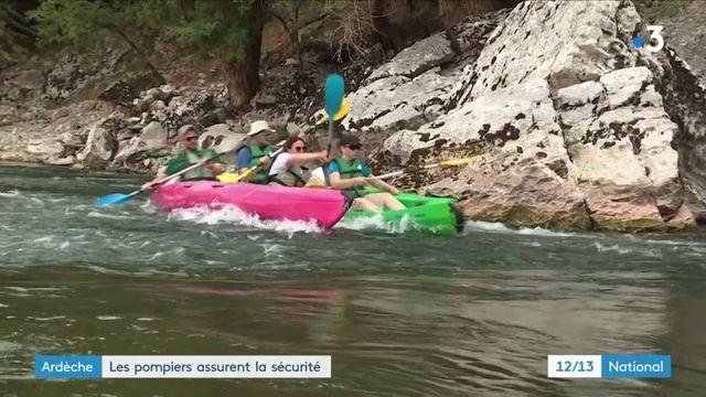 Ardèche : les pompiers, anges gardiens sur la rivière