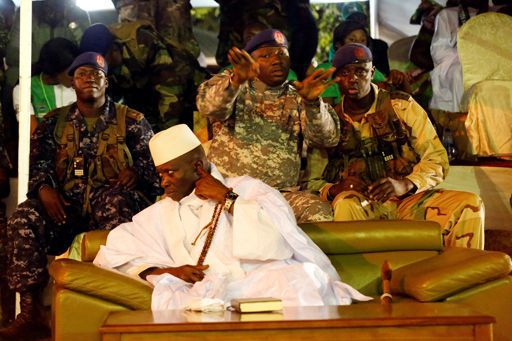 Yahya Jammeh, alors président de la Gambie, à Banjul en meeting électoral à Banjul le 29 novembre 2016. ( REUTERS - Thierry Gouegnon)