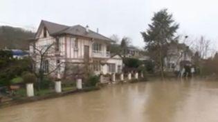 Les Yvelines sous les eaux le 25 janvier 2018 (FRANCE 2)