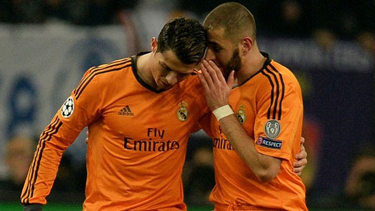 Les deux compères de l'attaque madrilène, Cristiano Ronaldo et Karim Benzema