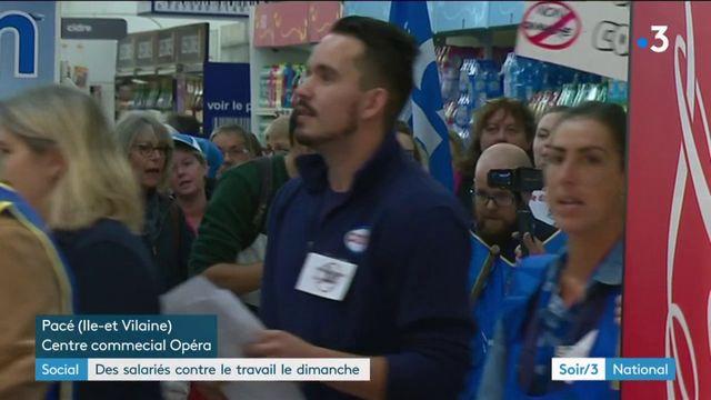 Ile-et-Vilaine : les salariés d'un supermarché se mobilisent contre l'ouverture le dimanche