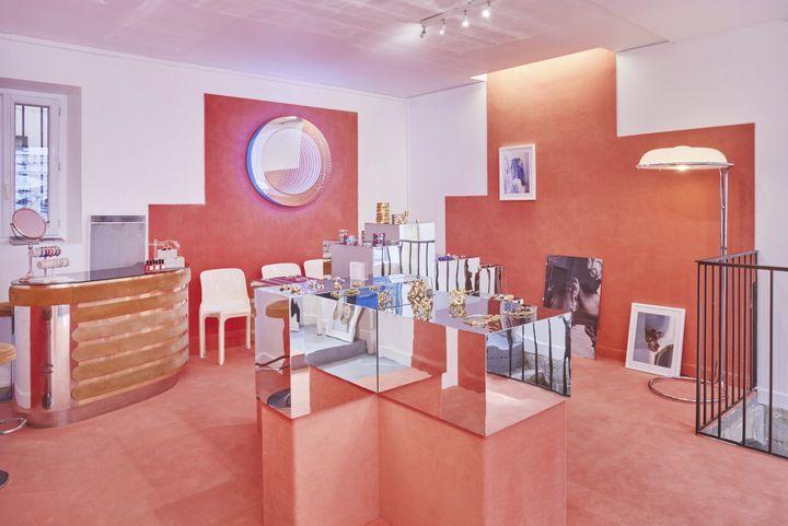 La boutique AnneliseMichelson dans le quartier du Vertbois à Paris, mars 2019 (SEBASTIEN VERONESE/ANNELISE MICHELSON)