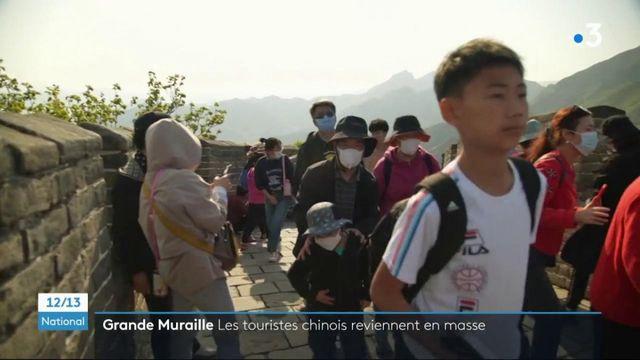 Chine : les touristes affluent sur la Grande Muraille