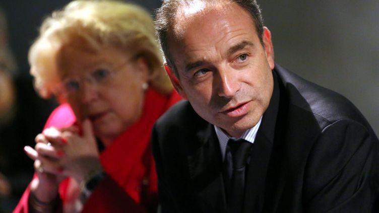 Jean-François Copé, secrétaire général de l'UMP, le 25 septembre 2012 à Marly (Moselle). (ANTHONY PICORE / MAXPPP)
