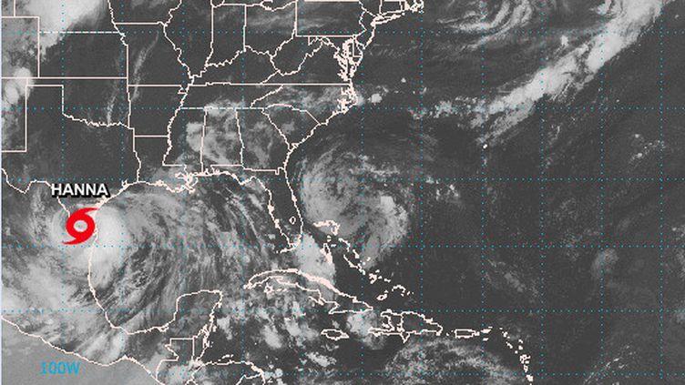 L'ouragan Hanna près des côtes américaines, fin juillet 2020. (NATIONAL HURRICANE CENTER)