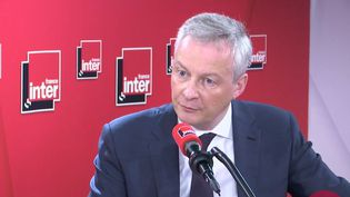 Bruno Le Maire, invité de France Inter le 9 mars 2020. (FRANCE INTER / RADIO FRANCE)
