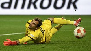 Le gardien marseillais Pau Lopez impuissant sur l'égalisation du Lokomotiv Moscou à la 89e minute. (ALEXANDER NEMENOV / AFP)