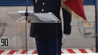 Le gendarme Arnaud Beltrame à la caserne de Carcassonne (Aude), en 2018. Cette photo a été rendue publique par la gendarmerie nationale après sa mort, samedi 24 mars 2018. (GENDARMERIE NATIONALE)