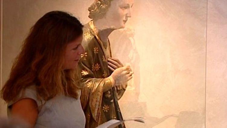 """Lecture autour de """"Ange et Vierge de l'Annonciation"""" par Maylis de Kérangal  (France 3-Culturebox)"""
