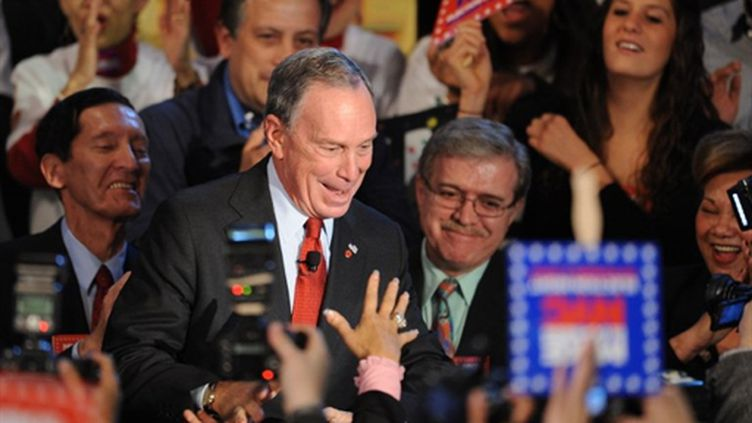 Michael Bloomberg célèbre sa troisième victoire à New York (© AFP - Stan Honda)