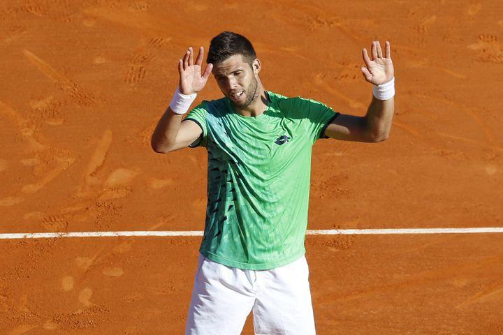 Jiri Vesely, tout heureux d'avoir battu Djokovic au 2e tour à Monte Carlo