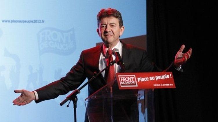 """Jean-Luc Mélenchon a prévu de lancer des """"assemblées citoyennes"""" un peu partout en France, en novembre. (AFP - Patrick Kovarik)"""