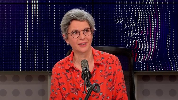 Sandrine Rousseau, invitée du 8h30 de franceinfo dimanche 24 octobre. (FRANCEINFO / RADIOFRANCE)