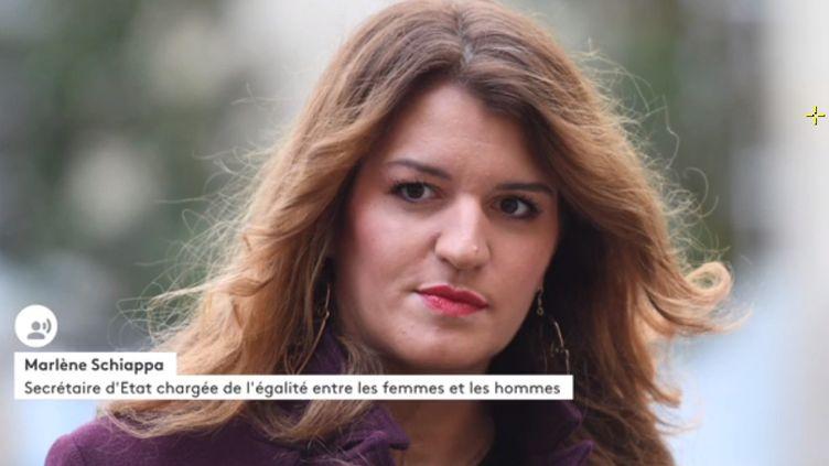 Marlène Schiappa, secrétaire d'État à l'égalité femmes/hommes, invitée de franceinfo lundi 16 mars 2020 (FRANCEINFO / RADIOFRANCE)
