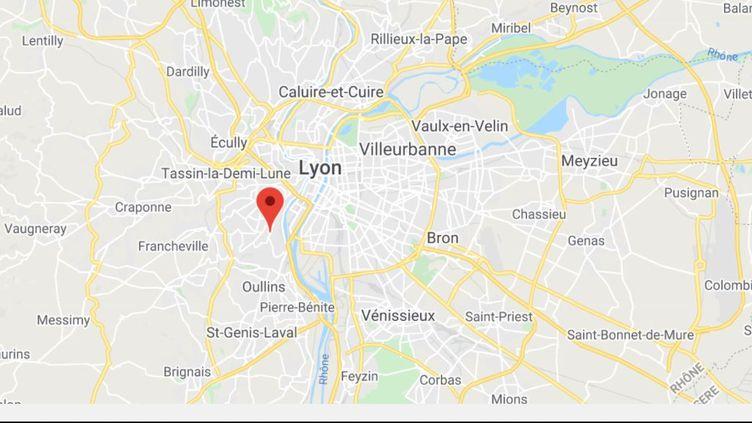 Sainte-Foy-lès-Lyon (Rhône). (CAPTURE ECRAN GOOGLE MAPS)