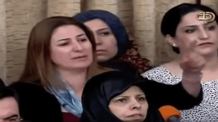 Une députée yézidie lance un cri d'alarme devant le Parlement irakien, en août 2014. (ERETZ ZEN / YOUTUBE)