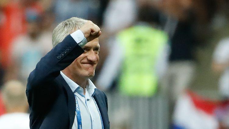 Didier Deschamps n'a pas hésité à sacrifier son potentiel offensif pour solidifier l'assise défensive.  (ODD ANDERSEN / AFP)
