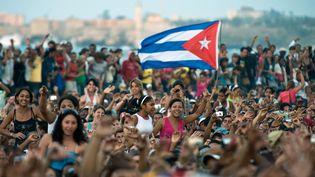 La foule au concert du groupe porto-ricain de raggaeton Calle 13,le 23 mars 2010, à La Havane (Cuba). ( AFP FDF)