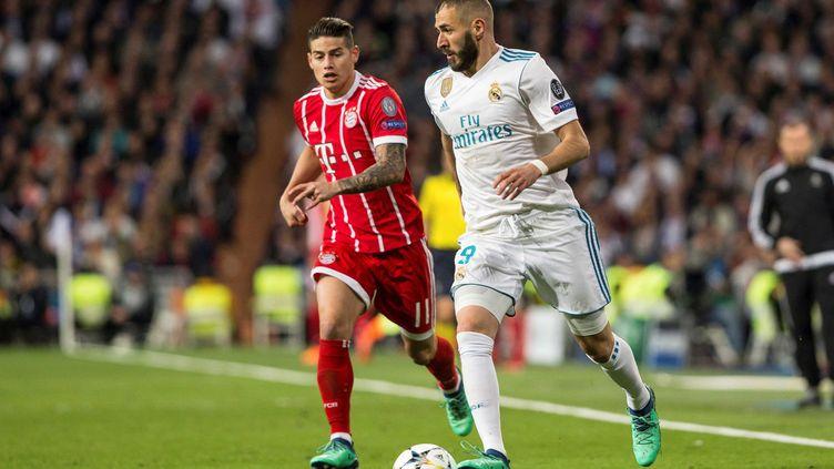 Karim Benzema (deux fois) et James Rodriguez ont marqué lors de cette demi-finale retour  (RODRIGO JIMENEZ / EFE)