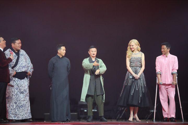 Soirée du 11 novembre du géant chinois du e-commerce Alibaba : Nicole Kidman s'est exprimée en mandarin. (MAXPPP)