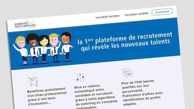 Le site DiversifiezVosTalents.com (CAPTURE D'ÉCRAN)