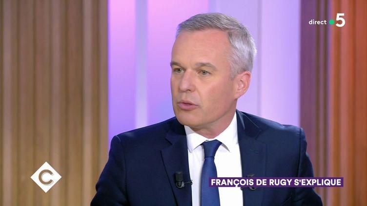 """François de Rugy, ancien ministre de la Transition écologique et solidaire, sur le plateau de l'émission """"C à Vous"""", sur France 5, le 3 septembre 2019. (FRANCE 5)"""