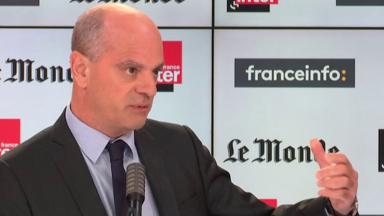 Jean-Michel Blanquer, le ministre de l'Education nationale, était l'invité de franceinfo dimanche 18 octobre (FRANCEINFO)