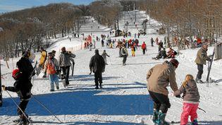 La station de ski dePrat-Peyrot se situe dans le massif du Mont-Aigoual. (MAXPPP)