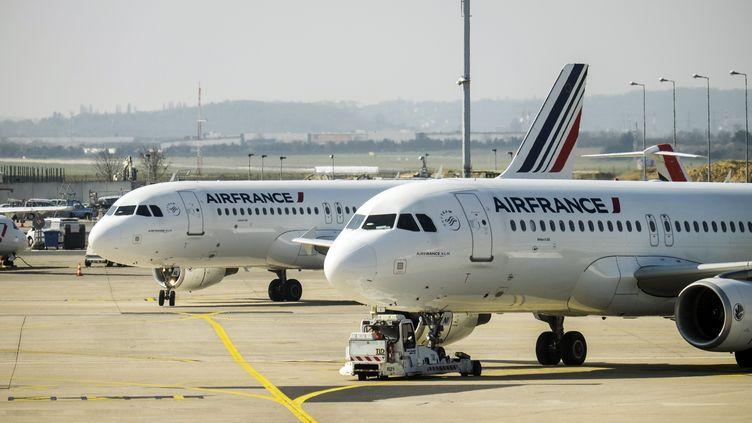 Des avions d'Air Franceen mars 2016 à Orly (illustration). (ARNAUD BEINAT / MAXPPP)